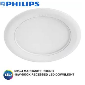 Philips 59524 18w Marcasite Led Downlight Round D L W W C W Shopee Malaysia