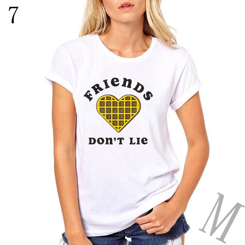 7c38a3a4008be Women's T-shirt friends Dont Lie letter print female T-shirt best friend  T-shirt