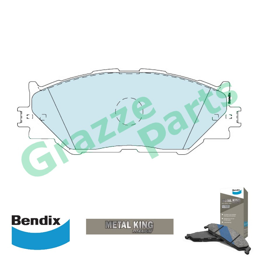 Bendix Metal King Titanium Disc Brake Pad Front for DB1852 Lexus IS250 IS350 GSE20 GSE25 GSE35
