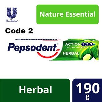 Pepsodent Toothpaste Cavity Fighter / Action HERBAL Nature Essential 190g