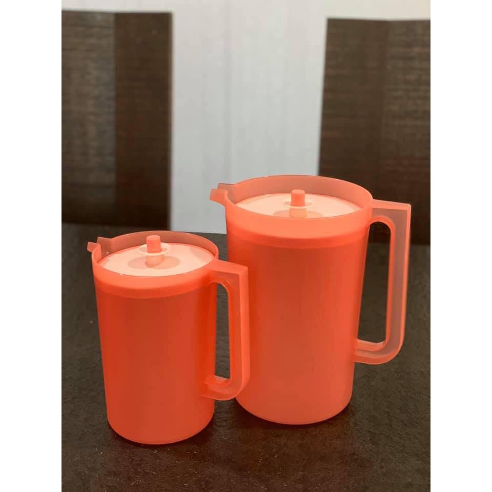 Tupperware Coral Blooms Pitcher Set