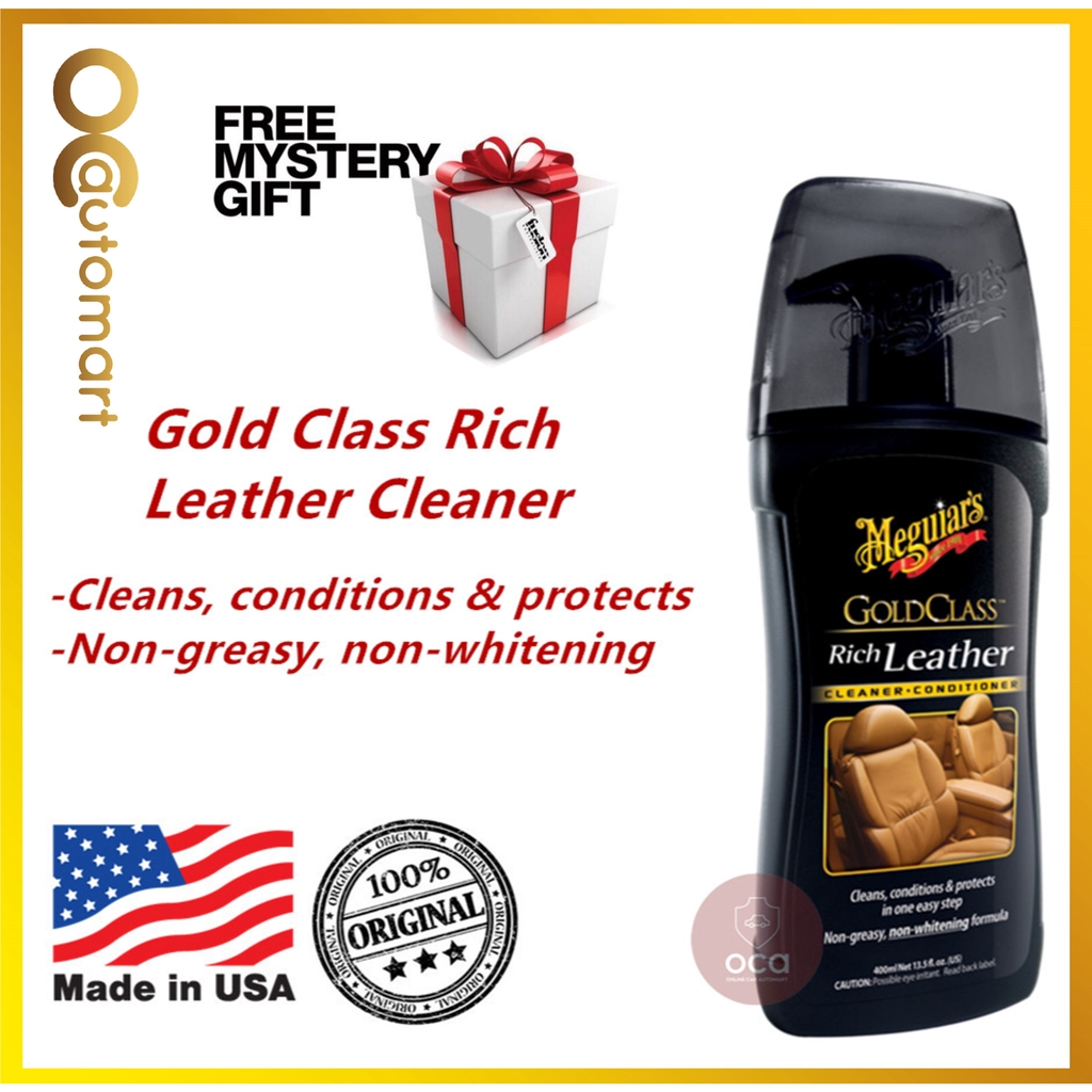 ( Free Gift ) Meguiar's / Meguiars Gold Class Rich Leather Cleaner G17914