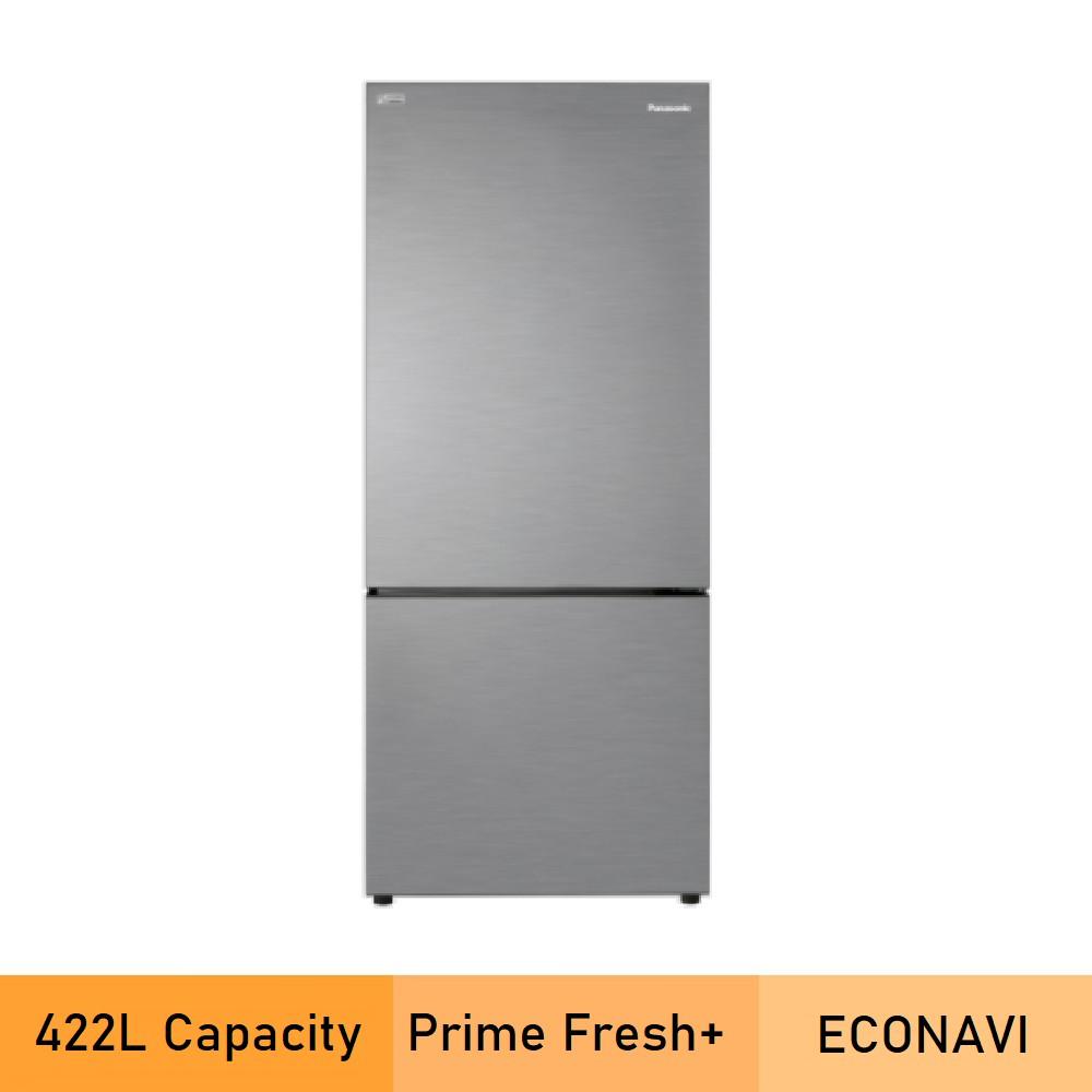 Panasonic NR-BX421BPS 2-door Bottom Freezer Refrigerator Steel Door Series