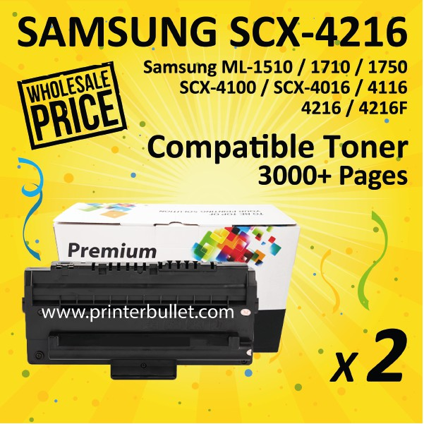 2 unit Samsung SCX-4216 Compatible Toner Cartridge