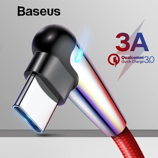 Baseus 1m 2m Led Light USB-C Type C Cable For Xiaomi For Samsung S9 Fast  Charge