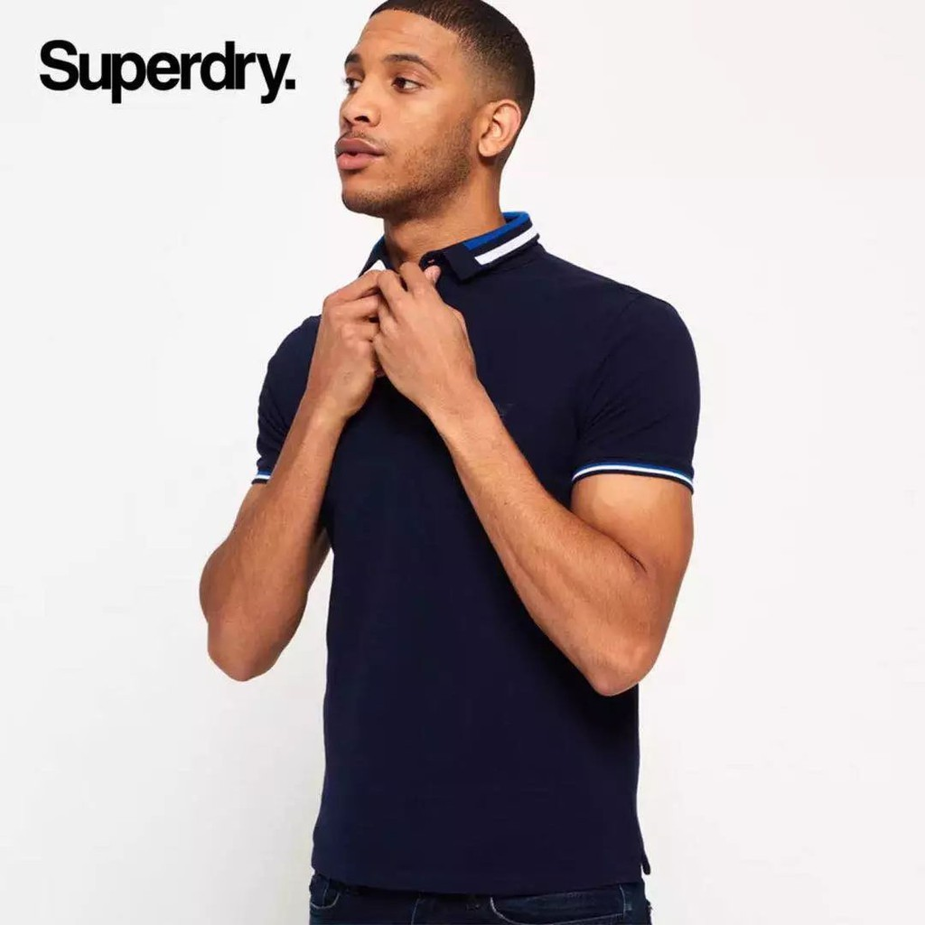 86e10c141ed Original Superdry City Fit Pique Polo Shirt | Shopee Malaysia