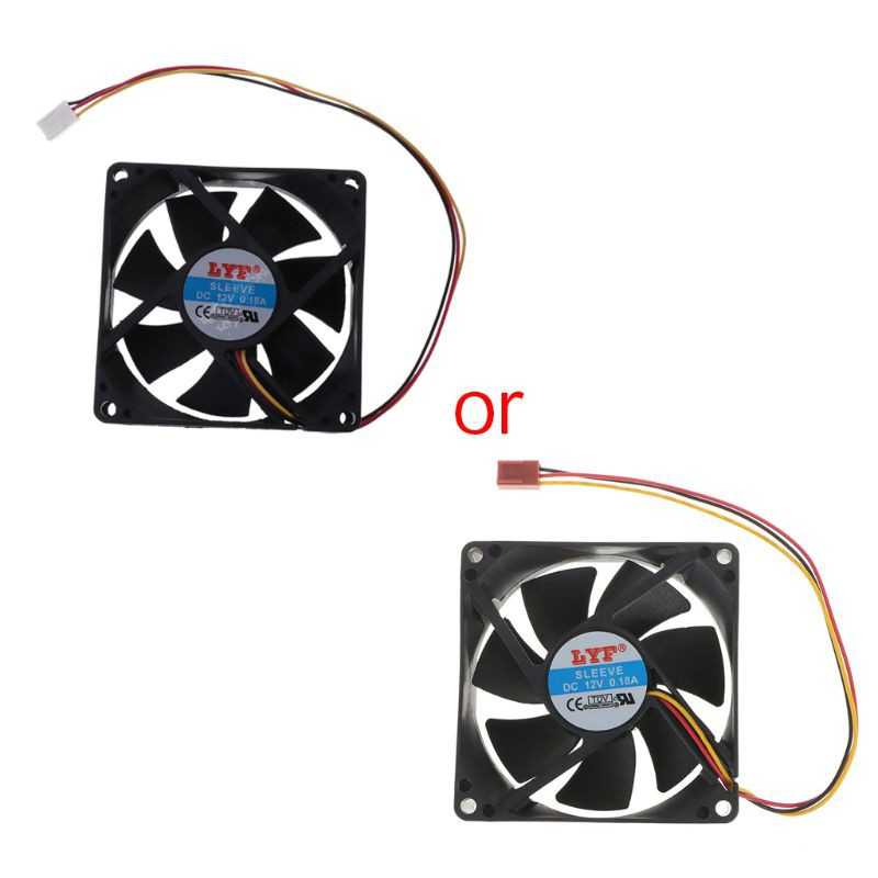 80mm x 80mm x 25mm 12V 3PIN DC Computer CPU Case Heatsink Cooler Cooling Fan