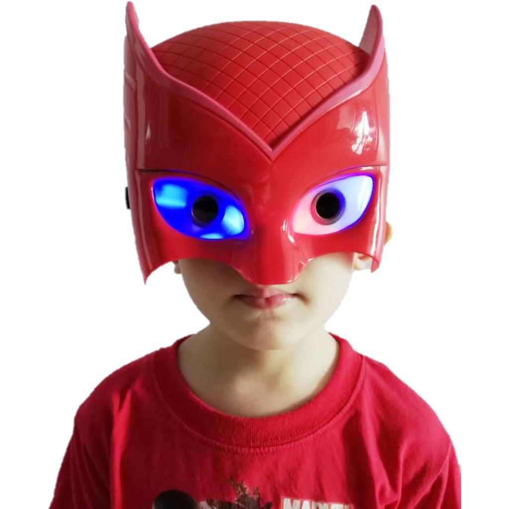 Superhero Avengers LED Spiderman Hulk Iron Man Black Panther Captain America Ant Man Mask