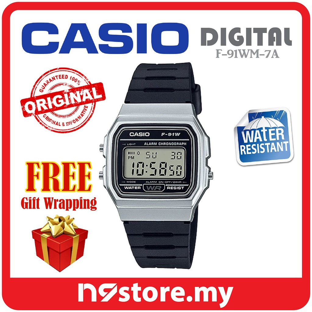2d6b47383 Casio F-91W-1D Classic Digital Men Watches Sports Casual Jam Original |  Shopee Malaysia