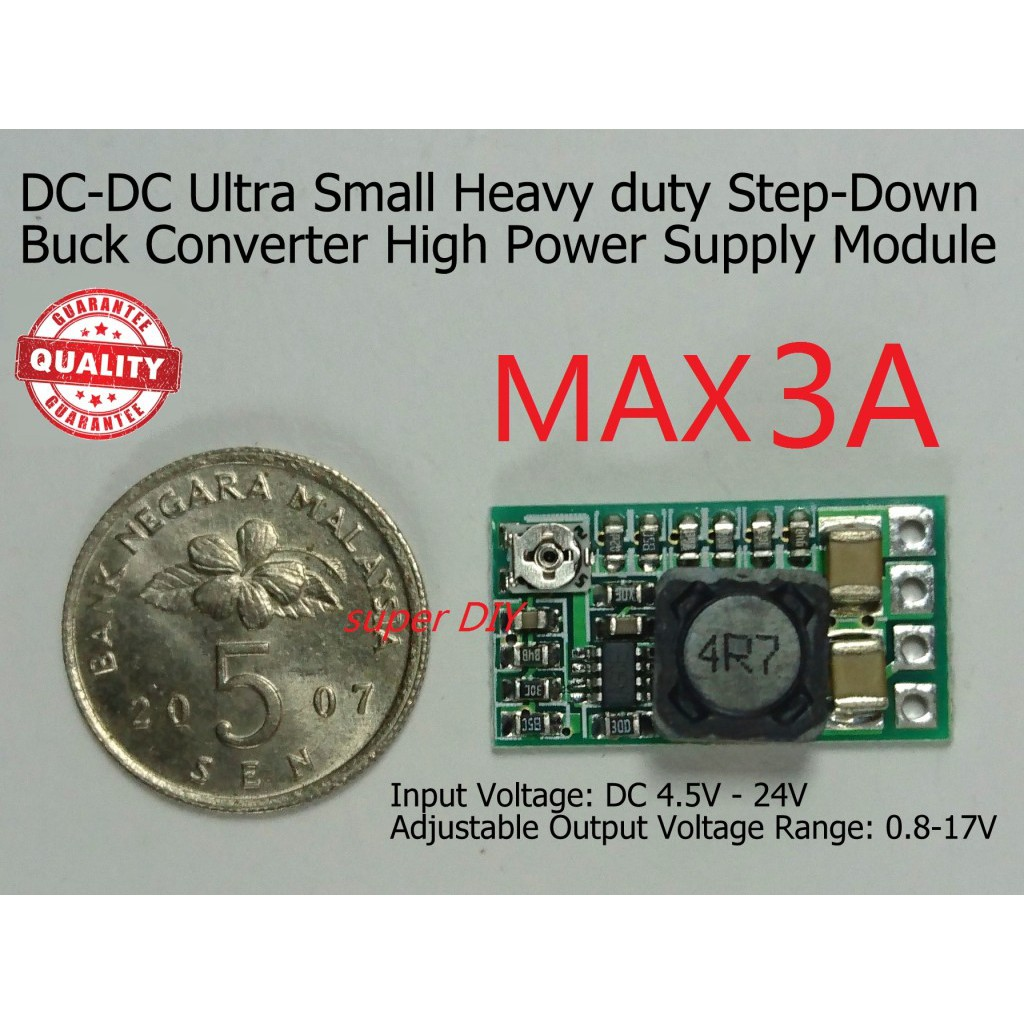 DC-DC 3A adjustable mini Step Down Buck Voltage Converter Power Supply  Module