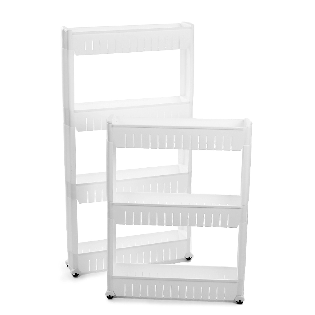 Slim Slide Out Kitchen Bathroom Trolley Rack Holder Storage Shelf with Wheels US