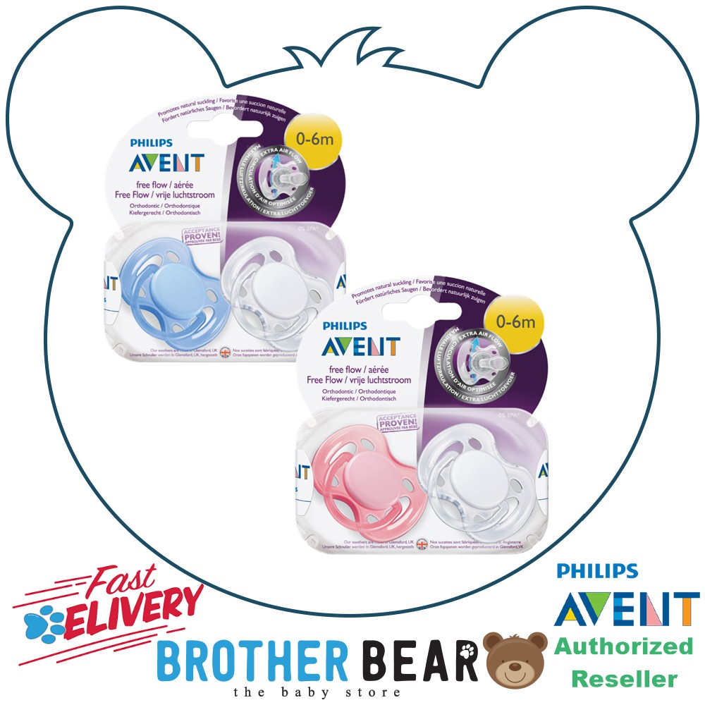 Avent 0-6 Month Ultra Soft Pacifier Dummy MIX GIRL 2 Pink Colour Soothers Baby