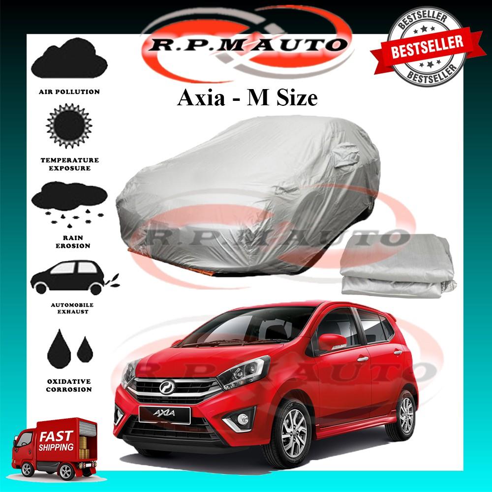 Perodua Axia High Quality Yama Car Cover - M Size (450 x 170 x 119cm) selimut kereta axia car cover axia