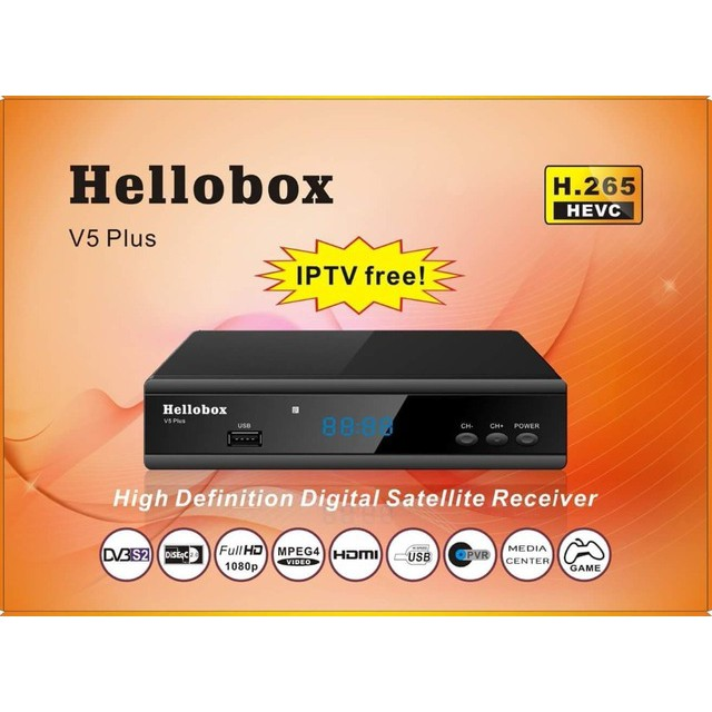 Hellobox V5 Plus Digital Satellite Receiver IPM BISSKEY auto detect