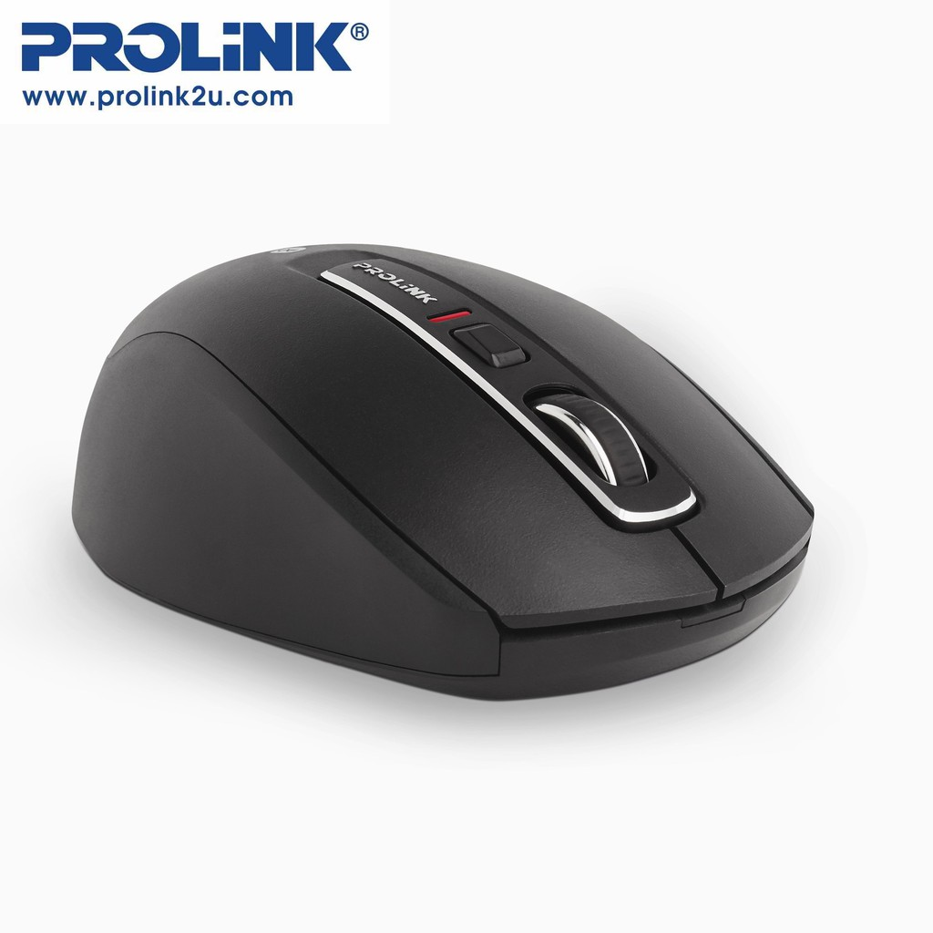 PROLiNK Bluetooth 5.1 Mouse 6-Button 1600dpi On/Off Button PMB8502