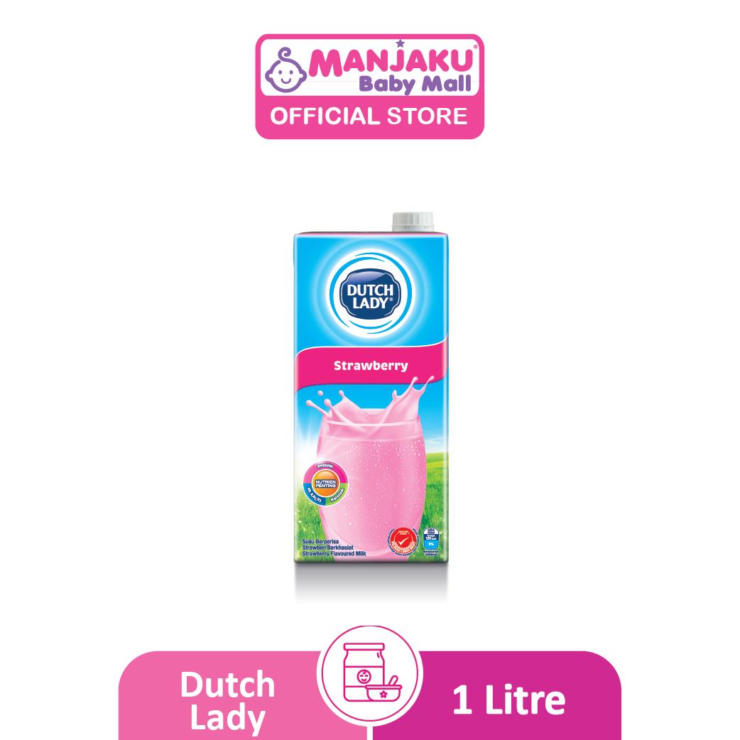 Dutch Lady UHT Milky Strawberry - 1L