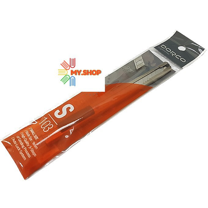 Dorco S103 Professional Blade Stainless Steel Utility Knife Art Cutter (9mm/small size)