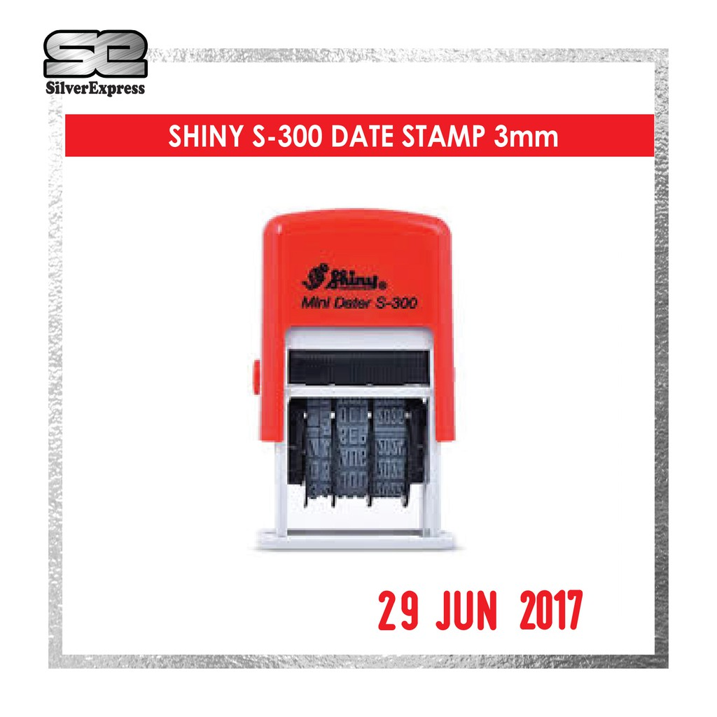 SHINY S-300 DATE STAMP/ SELF INKING / 3MM DATE STAMP / RUBBER STAMP
