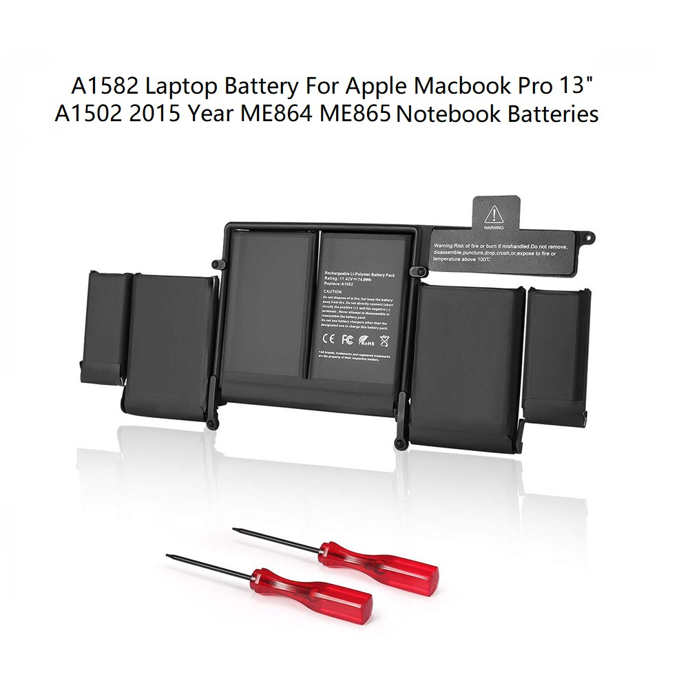 A1582 battery for macbook pro 13'' A1502 battery 2015 retina