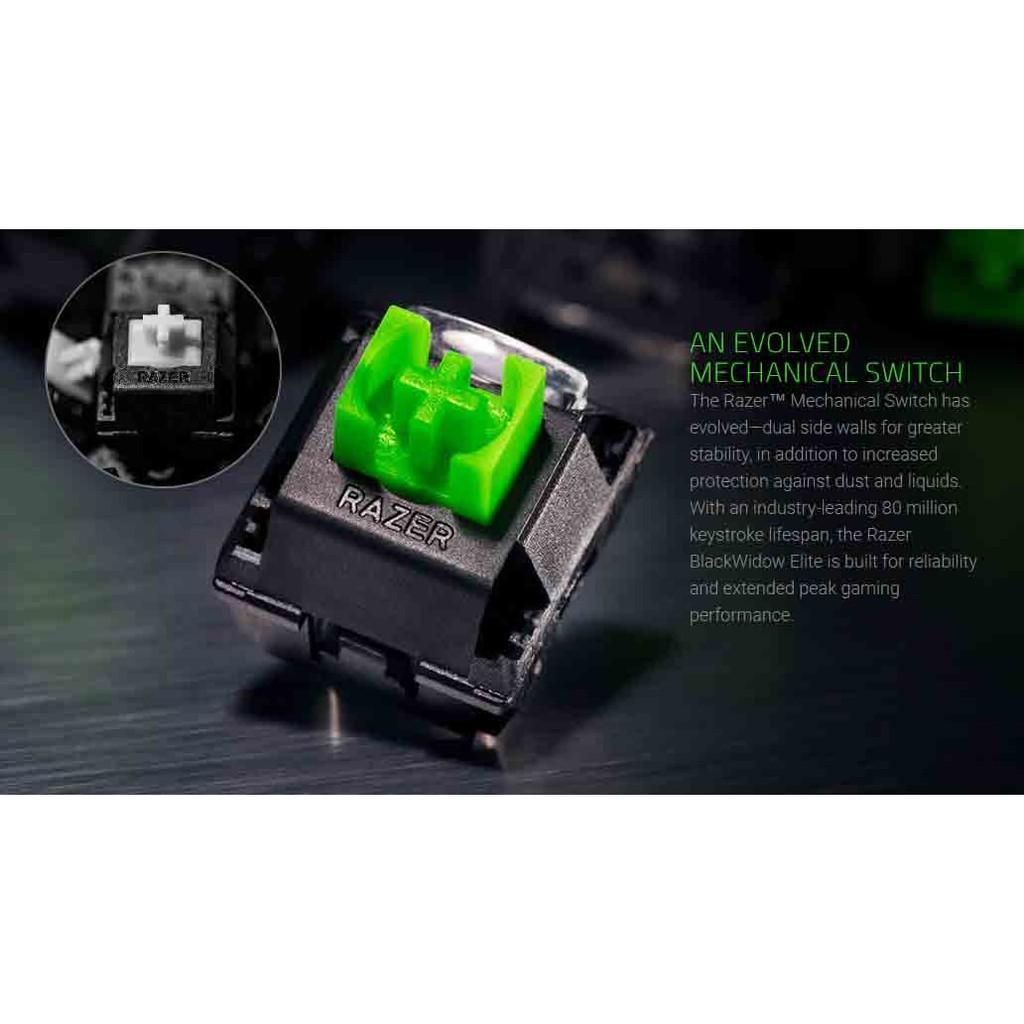 Razer BlackWidow Elite Mechanical Gaming Keyboard Wrist Rest - Orange Switch