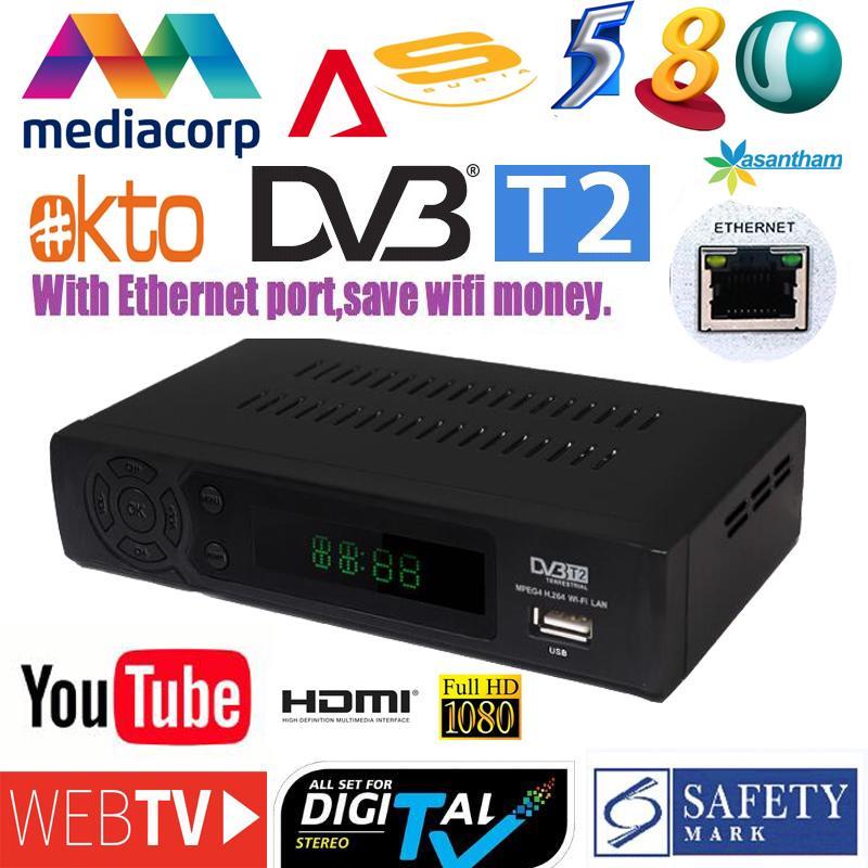 2018 newest DVB-T2 terrestrial digital TV signal receiver set-up box