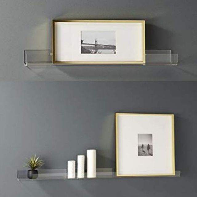 Floating Display Shelves Clear