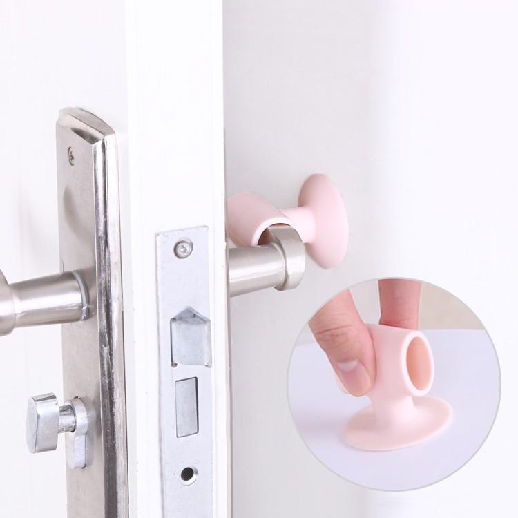 Bathroom Accessories Sets Useful 3pcs Doorknob Wall Mute Crash Pad Cushion Cabinet Door Handle Lock Silencer Protective Sleeve Anti-collision House Door Stopper Bathroom Products