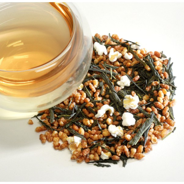 [IMPORTED FROM JAPAN] 100g Japanese Genmaicha with Matcha Tea / [日本进口,现货] 日本玄米茶配绿茶