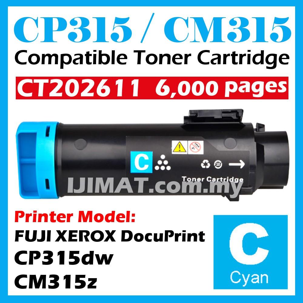 CYAN (HIGH YIELD & MORE PRINT) Compatible Fuji Xerox CP315 CM315 CP315Dw  CM315Z CP318DW CP318W CP318ZW CP 315 Printer