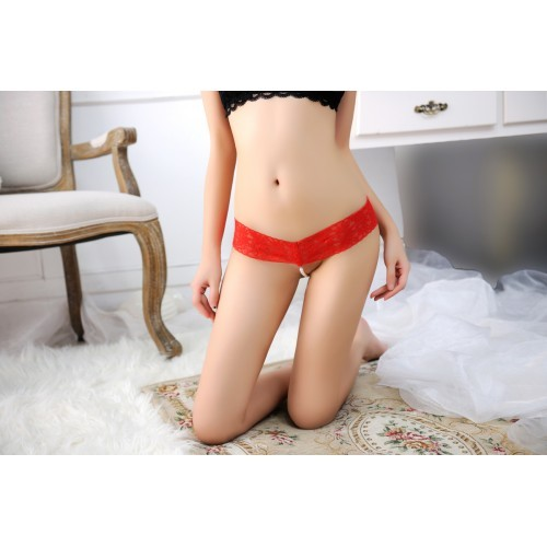 00180 Delicate Floral Lace With Pearl G-String  f4cf7e1df9