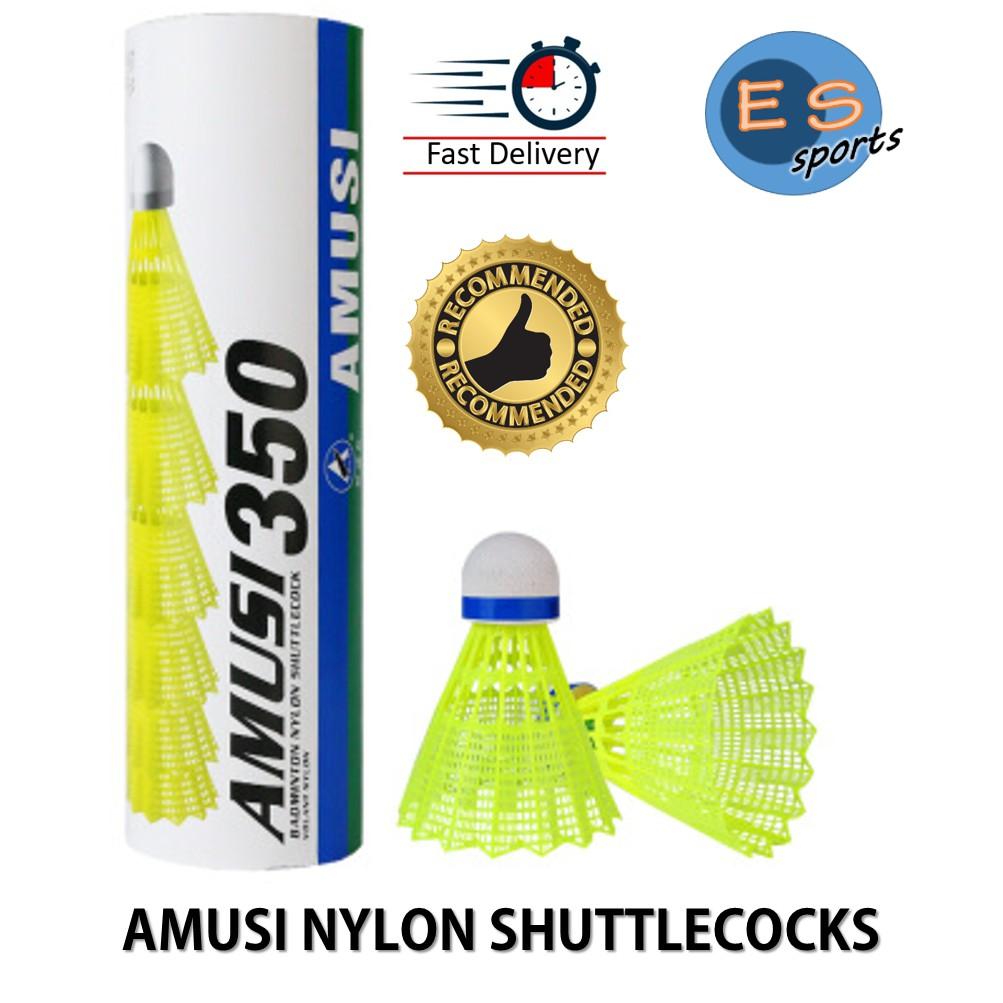 WHITE NYLON SHUTTLES Fast 12 x CARLTON T800 SYNTHETIC PLASTIC SHUTTLECOCKS RED