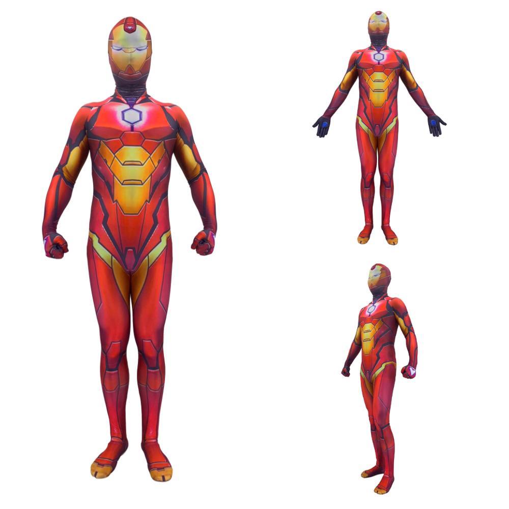 3D Printing Iron Man Cosplay Costume Elastic Spandex Lycra