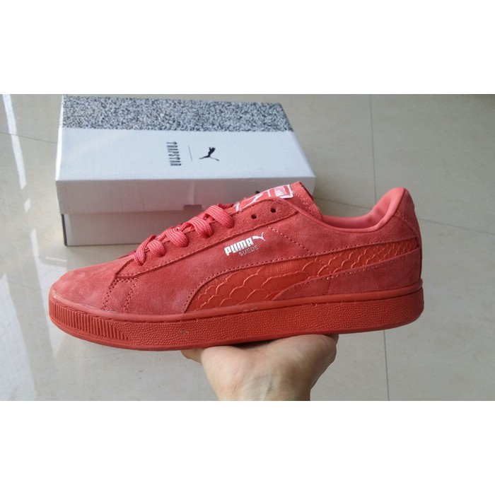 the latest e20a8 48aa0 authentic Puma Suede Classic Bboy all red men women sport running shoe  size36-44