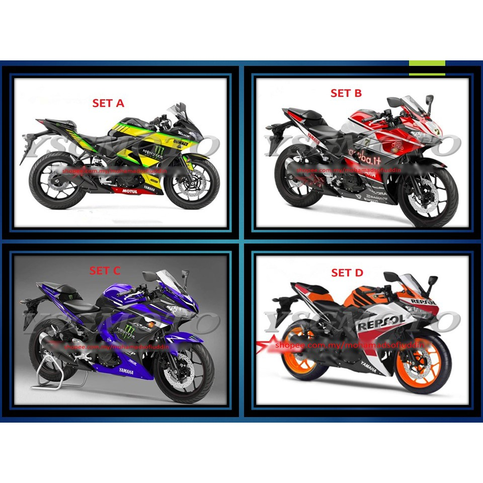 5  Yamaha YZF - R25 14-16 Years Cover Set (Fairing) (Including Tank Cover)
