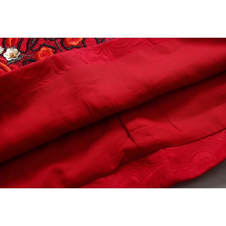 Mylilangelz KC2207 Kimo Cat Embroidery Blossom A Line Dress (READY STOCK)