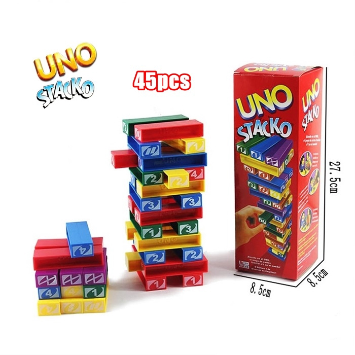 Uno Stacko Stacking Jenga Game | Stacking Block Game | Toys | Family Game