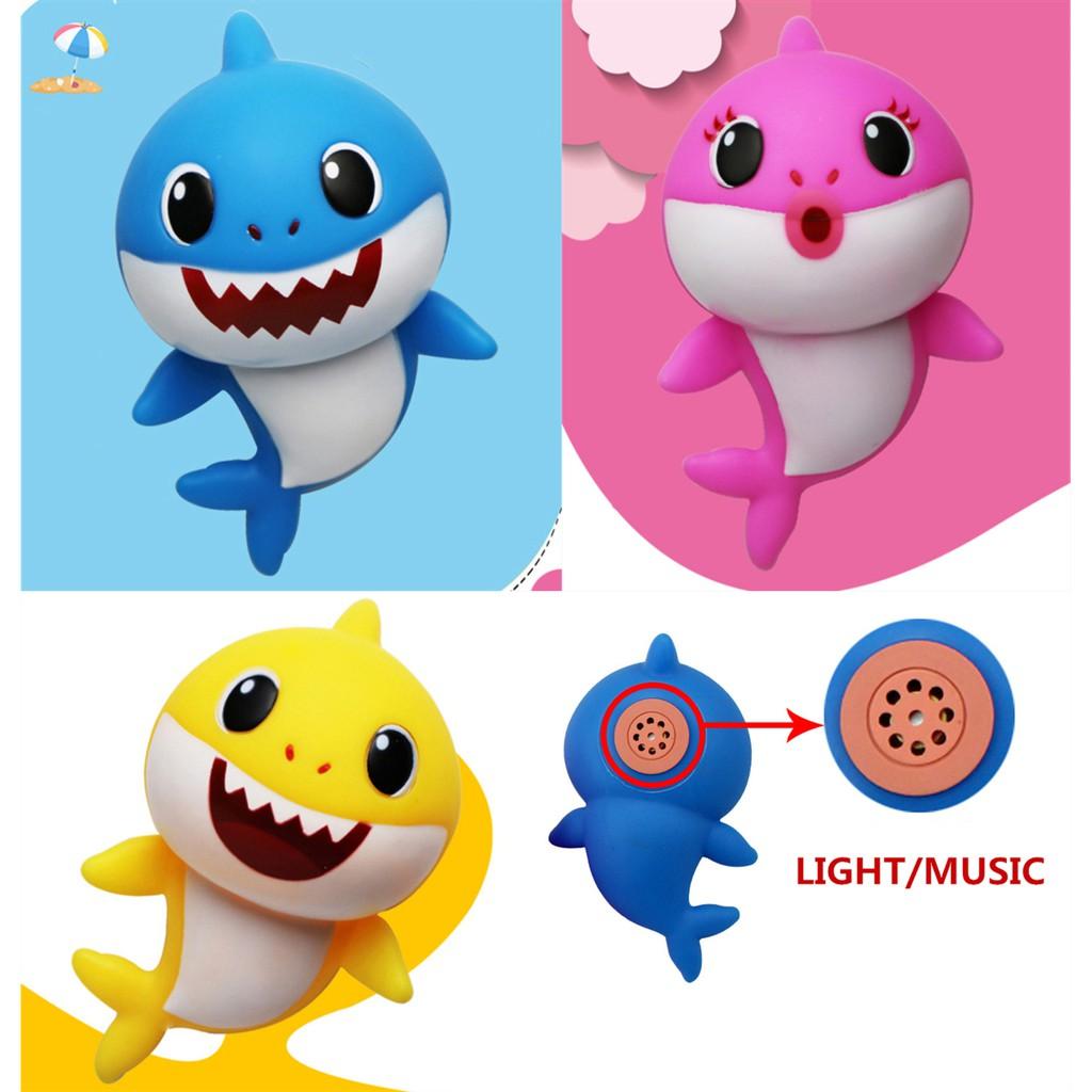 BIG size Baby Family Shark Music Sound LED Light Baby Shark Song Silicone Shark games holiday baby shark musical fish