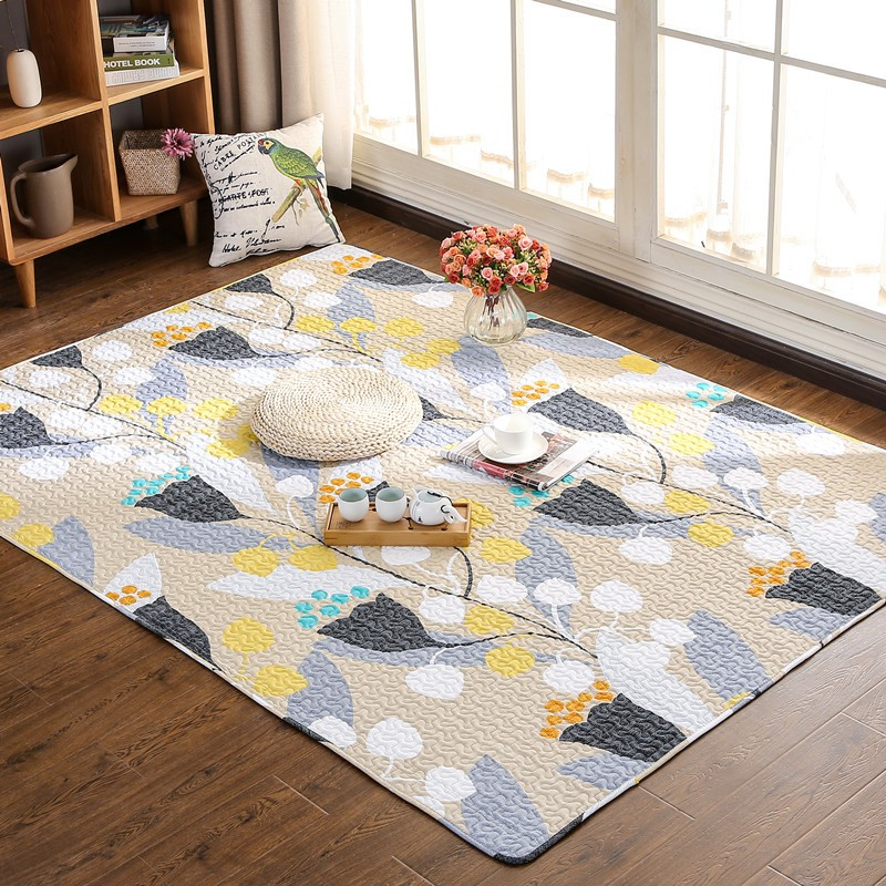 Patchwork 100 Cotton Carpets Rugs Floor Mat Bedroom Living Room Carpet Rug Shopee Malaysia
