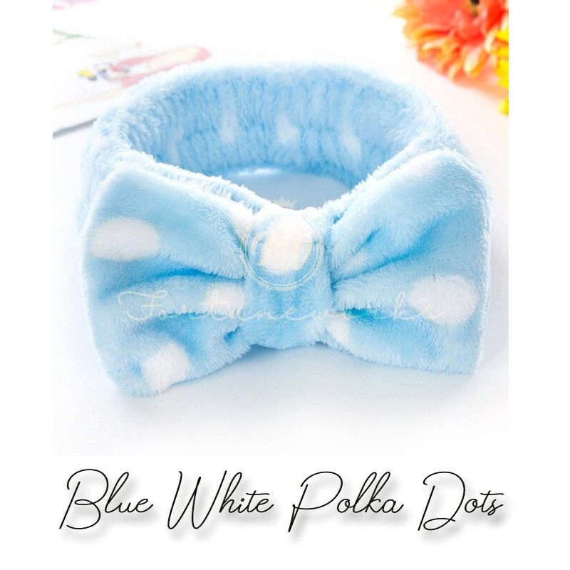 FORTUNEWORKS Cute Big Ribbon Head Band / Hair Band for Facial/ Make Up / Daily Use