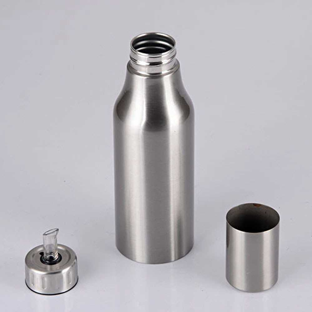 Fashion Stainless Steel Dustproof Leakproof Oil Pot Drop Sauce Vinegar Bottle Kitchen Supply Cruet