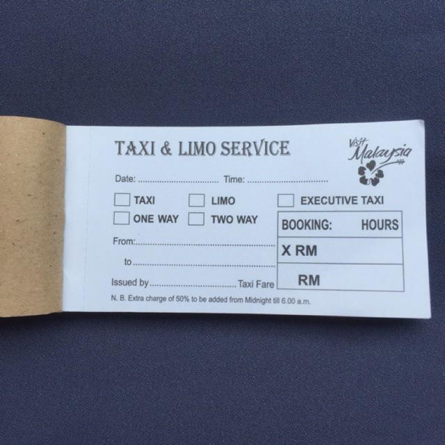 taxi receipt book malaysia