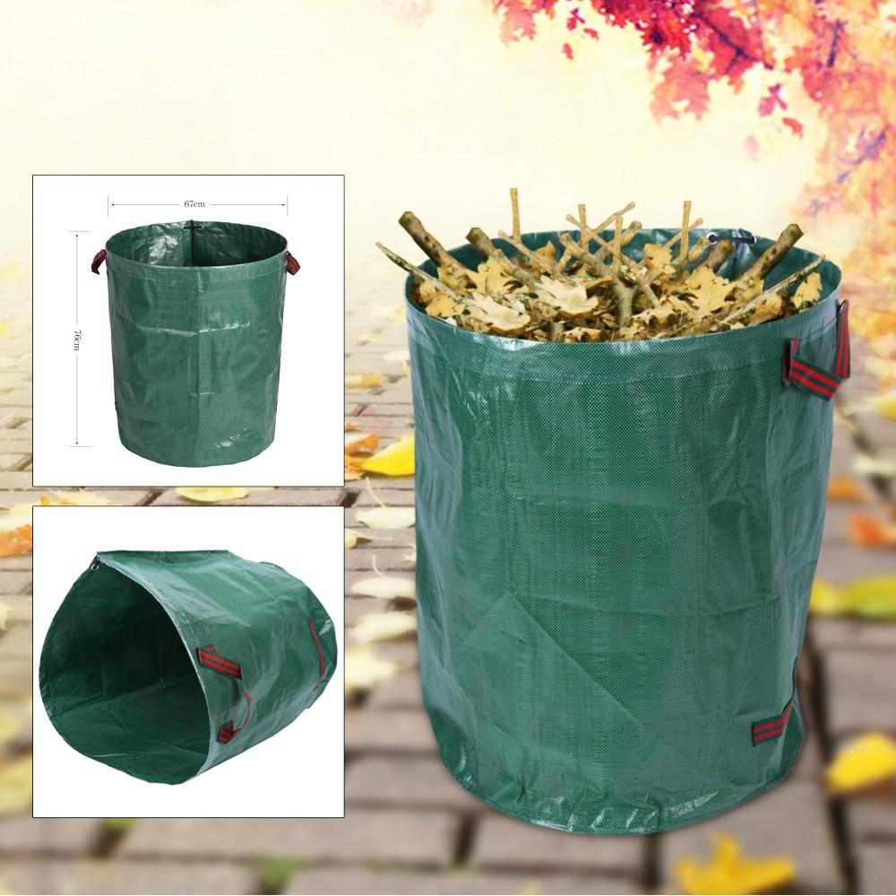harupink 270L Large Garden Waste Bag Strong Rubbish Sack Waterproof Heavy