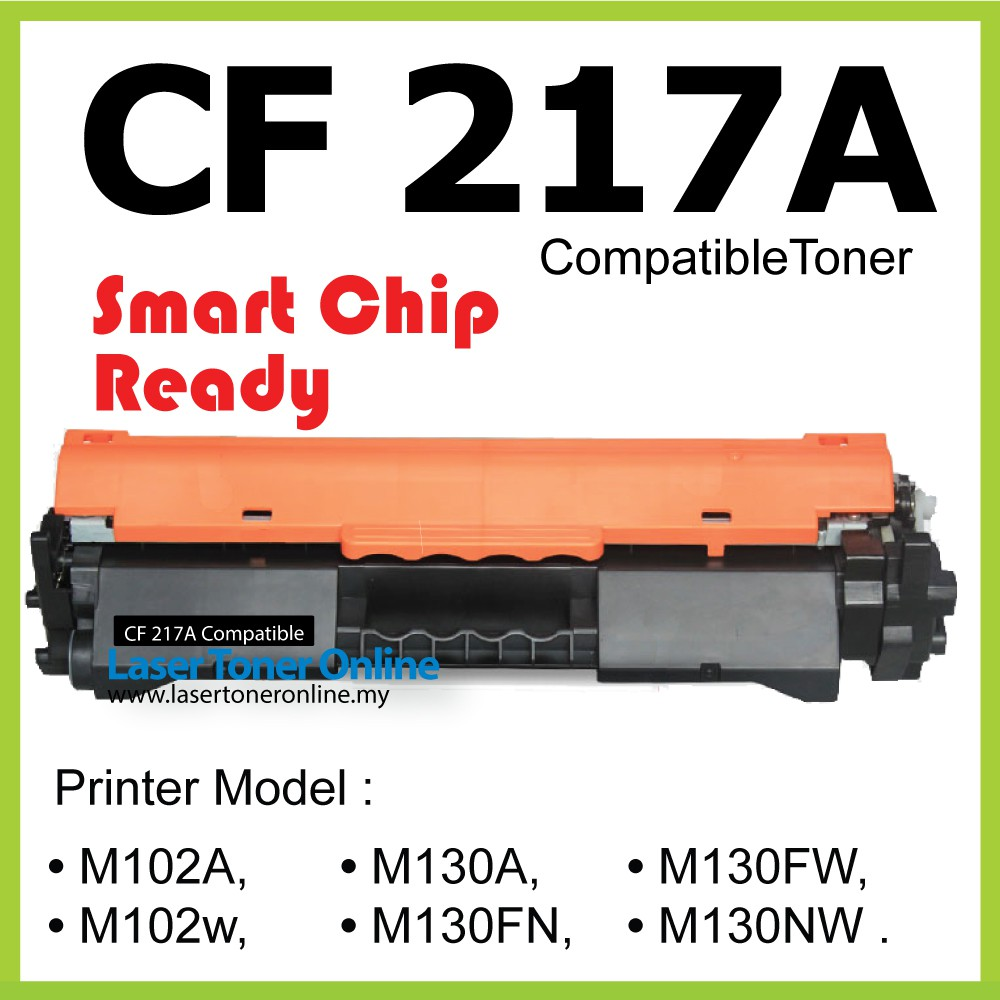 Compatible Toner HP CF217A 17A With New Chip M102 M130 M102W M102a M130fn  M130fw