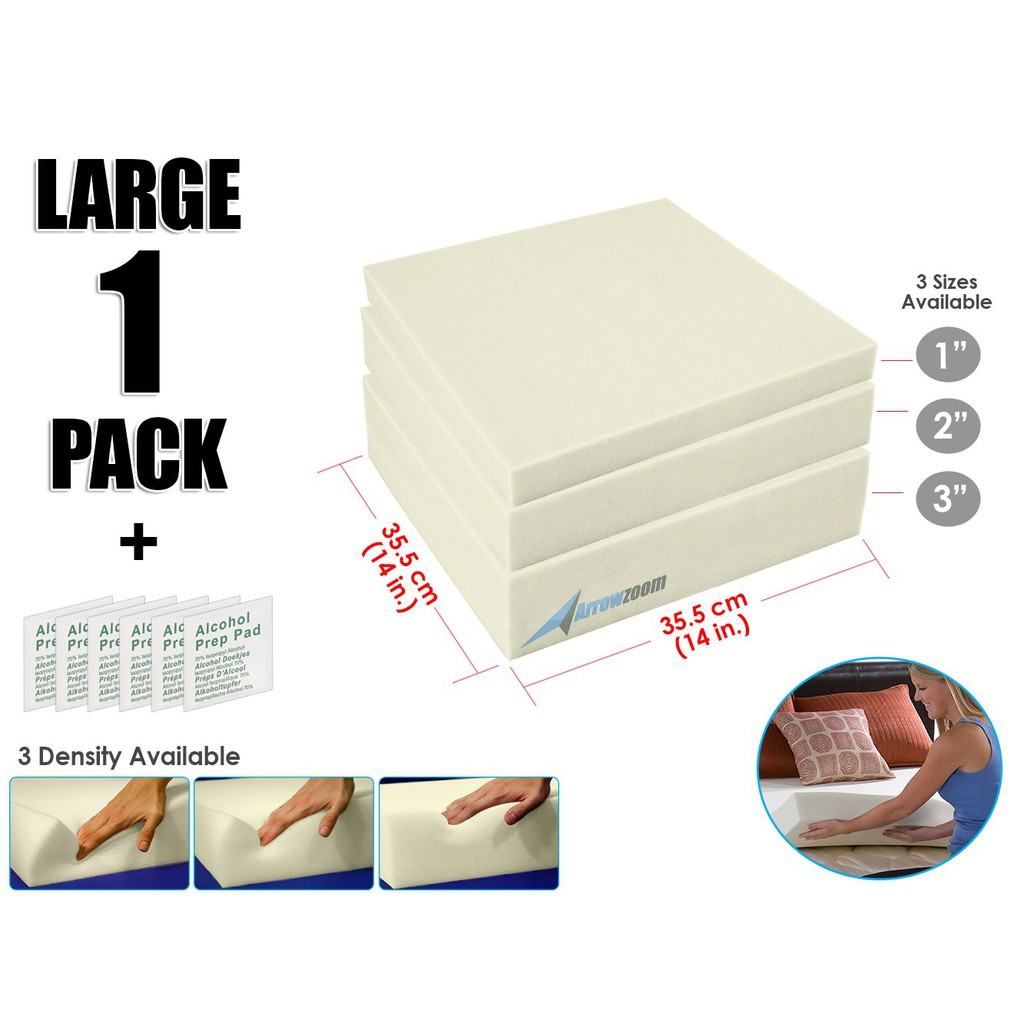 "4/"" X 40/"" X 40/"" Foot Stool Upholstery Foam Cushion Medium Density."