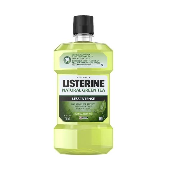 Listerine Natural Green Tea Less Intense Mouthwash 750ml