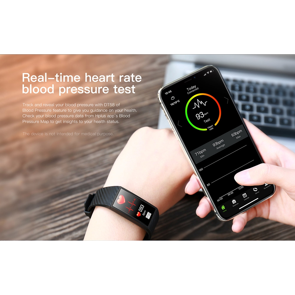 Waterproof Smart Watch Heart Rate ECG Smart Bracelet Blood Pressure