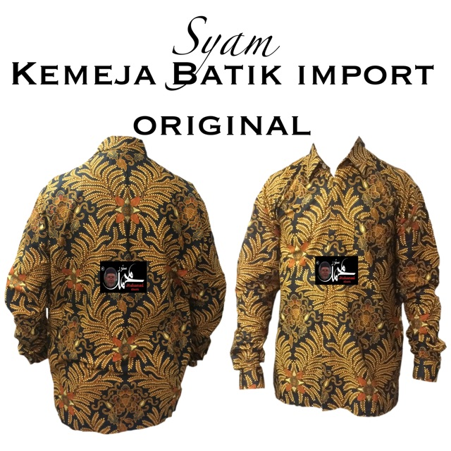 Syam Kemeja Batik Import Original