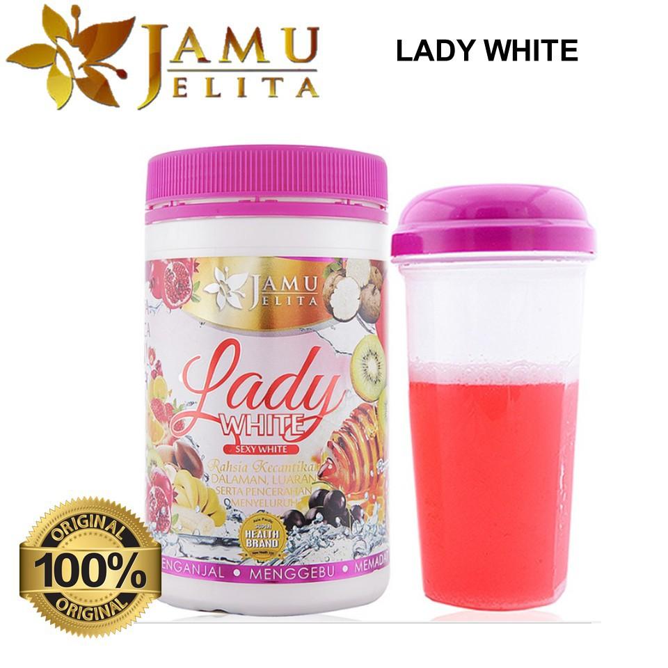 JAMU JELITA LADY WHITE 400GM 100% ORIGINAL HQ+FREE SHAKER+FREEGIFT