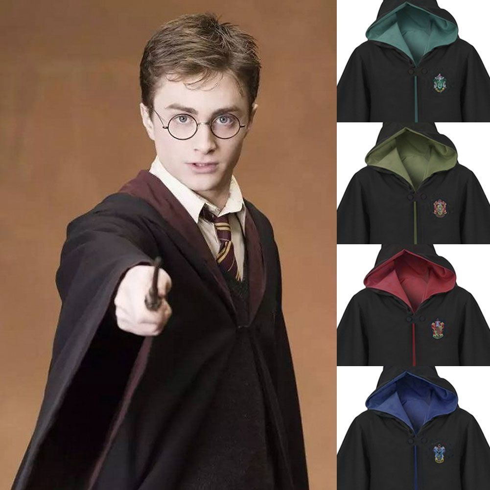 Tie+Scarf+Necklace+Badge Cos Set Harry Potter Ravenclaw Robe Cloak Costume Cape