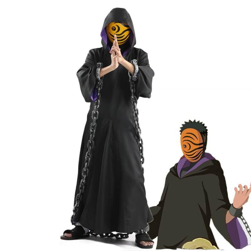 Cosplay Anime N ARUTO Akatsuki Ninja Tobi Obito Madara Uchiha Obito Costume